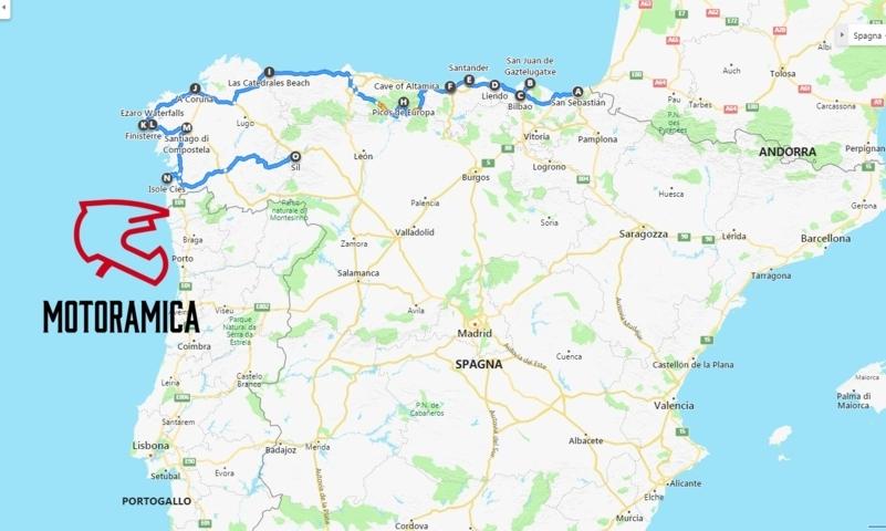 Spagna Nord Cartina.Spagna Del Nord In Moto Guida Viaggio Motoramica